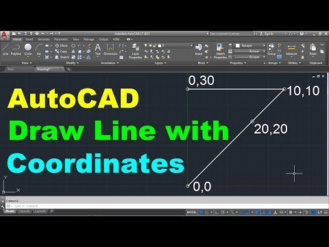 AutoCAD Draw Line with Coordinates - YouTube