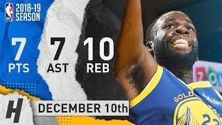 Draymond Green Full Highlights Warriors vs Timberwolves 2018.12.10 - 7 Pts, 7 Ast, 10 Rebounds!