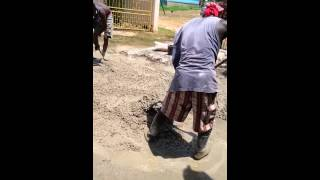 Mixing Concrete By Hand In Jamaica