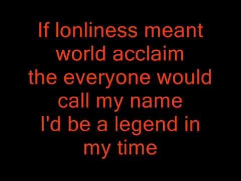 roy orbison i'd be a legend in my time lyrics (slow version)