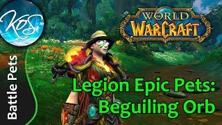 World of Warcraft: - DAZED AND CONFUSED AND ADORABLE BEGUILING ORB MURLOC - Legion Pet Battles - WoW