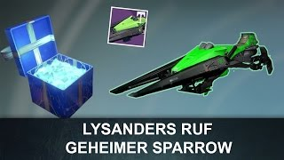Destiny: Lysanders Ruf / Geheimer Sparrow / Geheimes Geschenk (Deutsch/German)