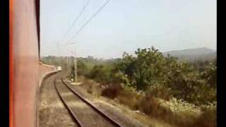 2314 Dn- New Delhi-Sealdah Rajdhani Express crossing the Chotanagpur Hills between Gaya and Koderma