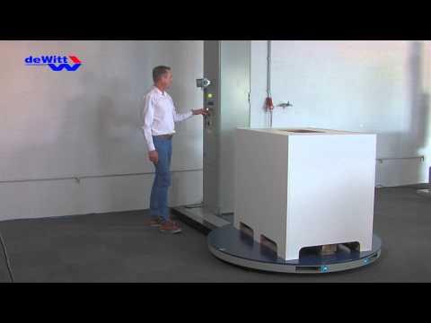 Palletwikkelaar, weegunit geïntegreerd in de wikkelmachine