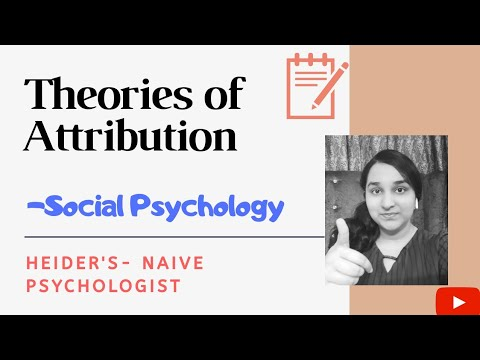 Attribution Theories in Social Psychology in Hindi| Heider's Theory| Mind Review