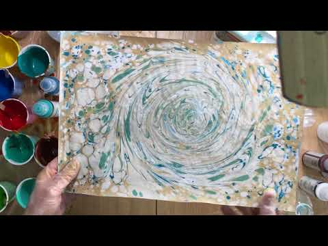 ( 420 ) Q&A paper marbling and what you need to mix paint.