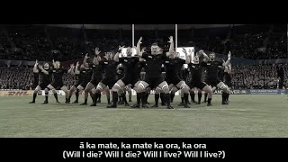 All Blacks Haka with translation(Ever wondered what the All Blacks are saying during their pre-match cultural challenge? Here?s a translation of their world famous Ka Mate haka, performed at ..., 2015-10-24T12:07:02.000Z)