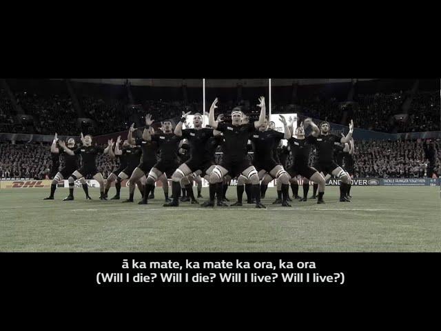 All Blacks Haka with translation
