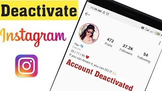How to Deactivate Instagram Account 2020 || DEACTIVATE INSTAGRAM ACCOUNT