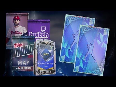 2 DIAMOND PULLS -  MAY POTM & TOPPS NOW PACKS!! MLB The Show 19 Diamond Dynasty
