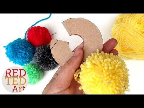 How to make a Pom Pom maker Tutorial (Craft Basics - Yarn Pom Pom)