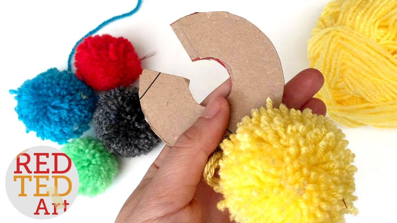 e9454318ef9 How to make a Pom Pom maker Tutorial (Craft Basics - Yarn Pom Pom) - YouTube