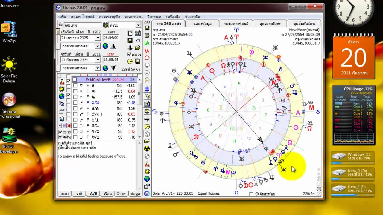 uranian astrology free chart