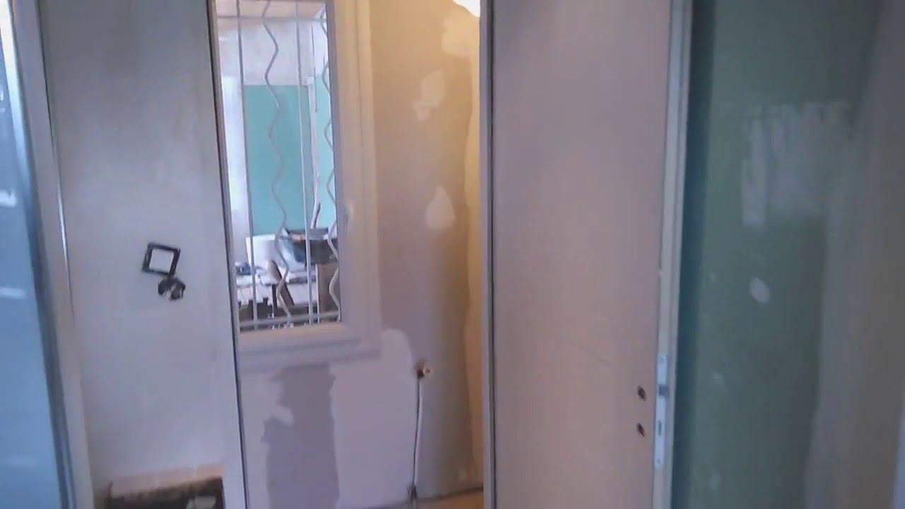 r novation salle de bain couloir et chambre youtube. Black Bedroom Furniture Sets. Home Design Ideas