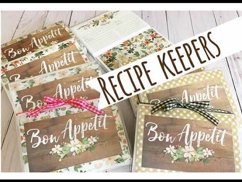 Craft Fair Idea 5 Recipe Keepers 2016 Youtube