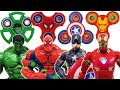 Avengers, Fidget Spinner Go~! Spider-Man, Hulk, Bumblebee, Iron Man, Captain America, Transformer
