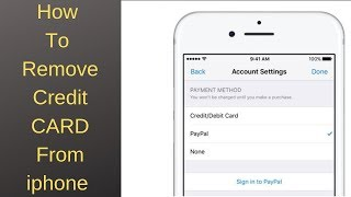 How To Remove Payment method on iphone  (hindi)
