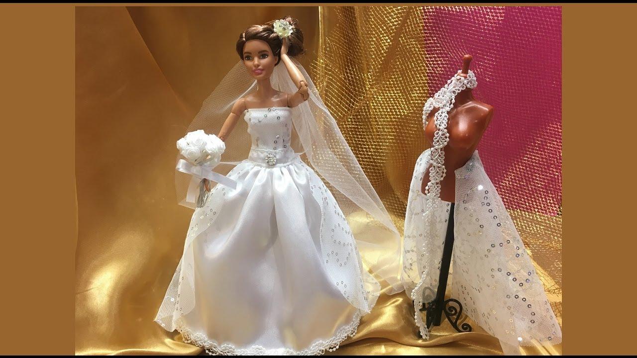 Vestido De Noiva Da Barbie Diy Barbie Wedding Dress