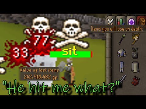 I Risk 250M, HE HITS ME 140 Damage (BANK RISK Osrs Pking)