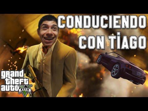 CONDUCIENDO CON TIAGO #1 DESMADRE EN GTA 5 (PC)