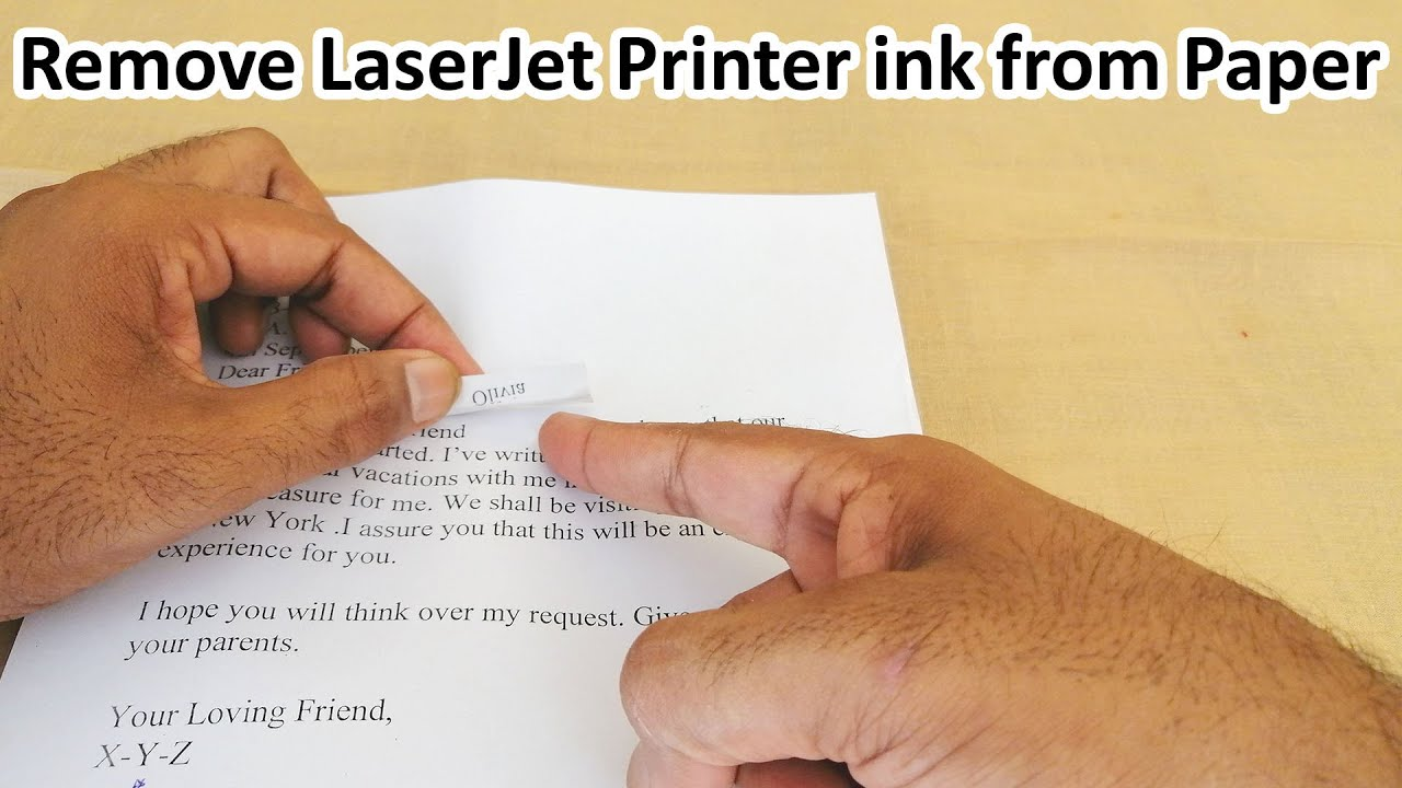 Download How to remove erase laserjet printer black  toner ink from paper page (Method 1) Urdu Hindi