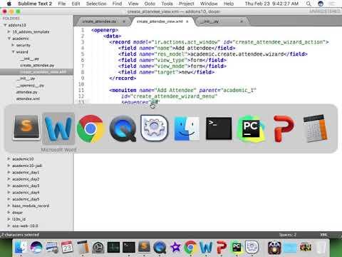 Odoo Developer Indonesia - 201 Creating Wizard XML