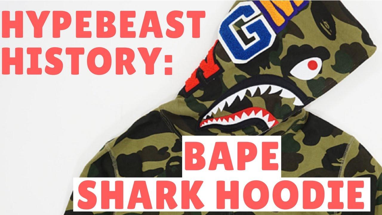 79661861cbe5 Bape Hoodie History- A Bathing Ape Camouflage Camo Shark and Nigo ...