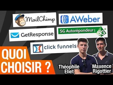 AWEBER, MAILCHIMP, GET RESPONSE, SG Auto-Répondeur, Clickfunnels, quoi choisir ? (Theophile Eliet)