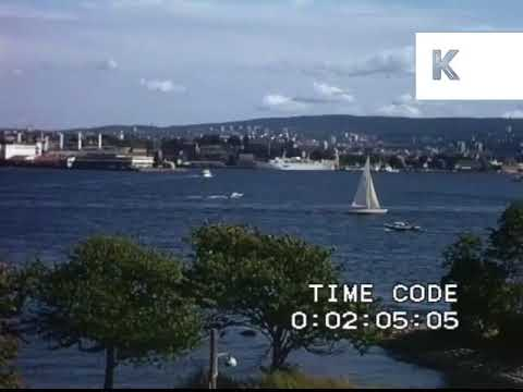 1970s Oslo, Ships in the Docks, POV from Back of Boat, Home Movie