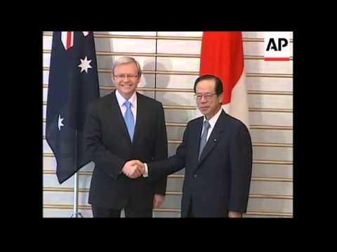 Australian PM Rudd meets Japanese PM Fukuda