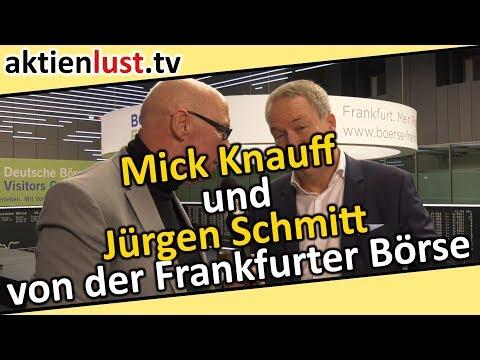 Mick Knauff und Jürgen Schmitt von der Frankfurter Börse | aktienlust