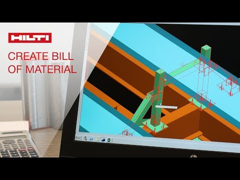 HOW TO create a bill of material - Hilti Modular Supports Plugin for Smart Plant 3D