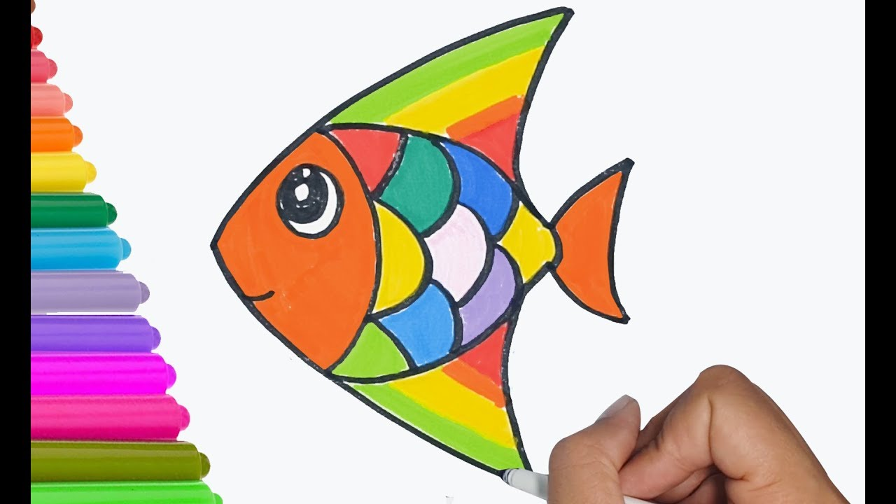 How to draw a cute fish easy and fast draw for kids draw a cartoon fish 2
