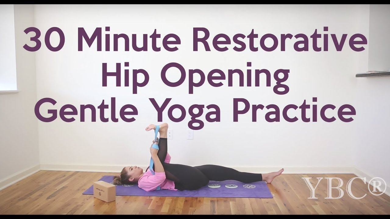 42 Minute Restorative Hip Opening Gentle Yoga Practice