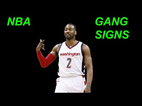 NBA Players Throwing up GANG SIGNS in game COMPILATION