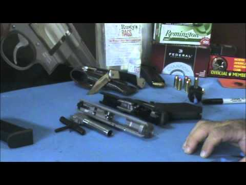 Field Stripping the Ruger SR40