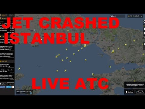 LIVE: PRIVATE JET CRASHED AT ISTANBUL ATATURK AIRPORT (LTBA) | BUSSY AIR TRAFFIC (FLIGHTRADAR24)