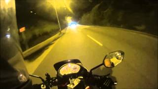 SONY AS15 Motorcycle  Night test (Angle of View 170° , SteadyShot off) 720P