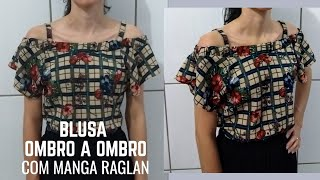Faça Blusa Ombro a Ombro com Elástico – Manga Raglan
