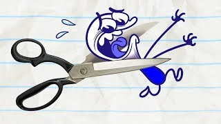 Pencilmate Can t Stop Playing in ROCKS, PAPER, SCISSORS, OH MY Pencilmation Cartoons for Kids