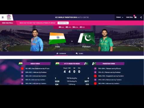India vs Pakistan world cup T20 live Streaming