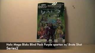 Baixar Halo Mega Bloks blind pack series 2 Purple Spartan review
