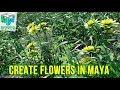 Create Dandelions Flower in Maya Content Browser Tutorial - Quickly
