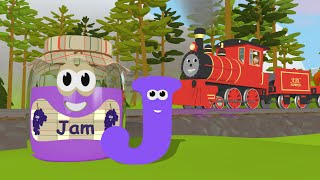 Learn about the Letter J - The Alphabet Adventure With Alice And Shawn The Train