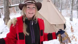 Winter Camping in a Hot Tent!