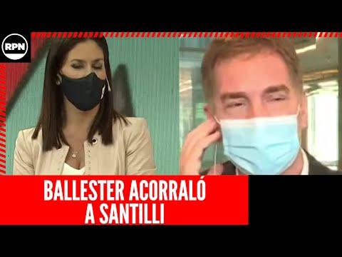 Daniela Ballester acorraló a Santilli por las clases presenciales