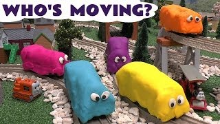 play doh covered motorized thomas friends kids guess the funny thomas the tank train