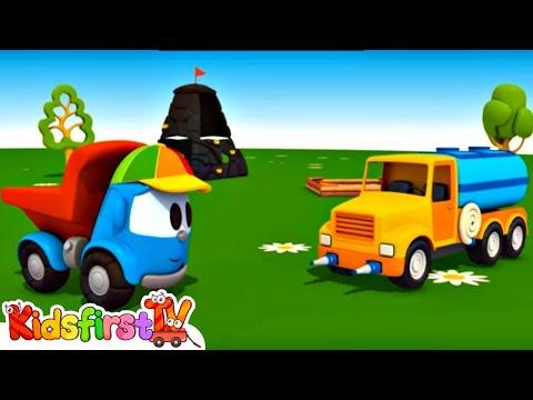 TRUCK Cartoons - Leo the Toy Trucks WATER TANKER TRUCK!