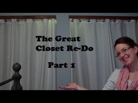 Organization Closet Re Do Vlog Youtube