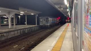 JR四国2000系(特急しまんと8号)+(特急南風28号)阿波池田駅入線。